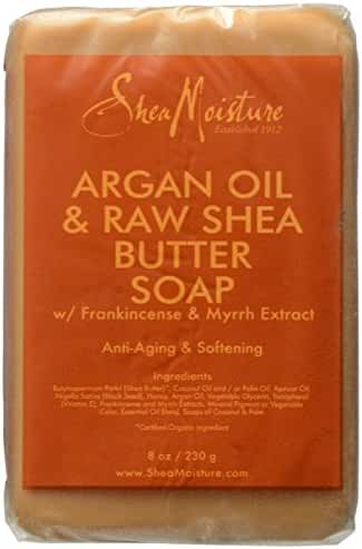 Shea Moisture Argan Oil & Raw Shea Butter Soap, 8 Ounce