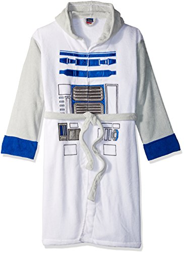 Star Wars White Grey R2D2 Fleece Robe (One Size) -