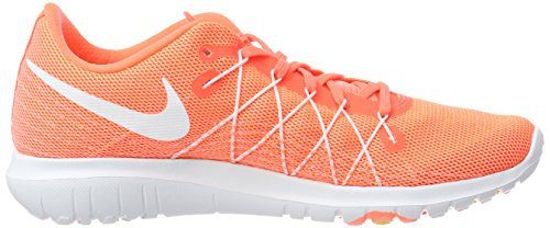 hot sale online 8ae50 3d53a ... Nike Flex Fury 2 Femmes Chaussures De Course Hyper Orange    Blanc-atomique Rose-