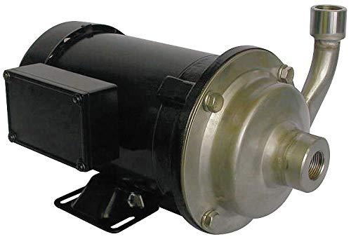 Dayton 316 Stainless Steel 1/2 HP Centrifugal Pump, 3 Phase, 208-230/460 Voltage - ()