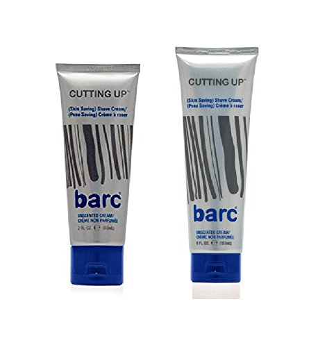 Barc Cutting Up, Unscented Shave Cream, 2 Oz + Unscented Sha