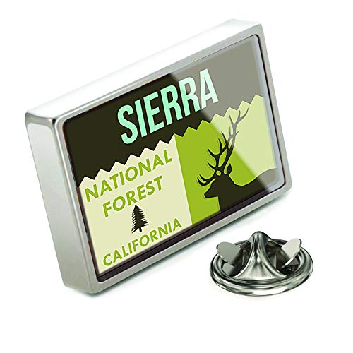 (NEONBLOND Lapel Pin National US Forest Sierra National Forest)