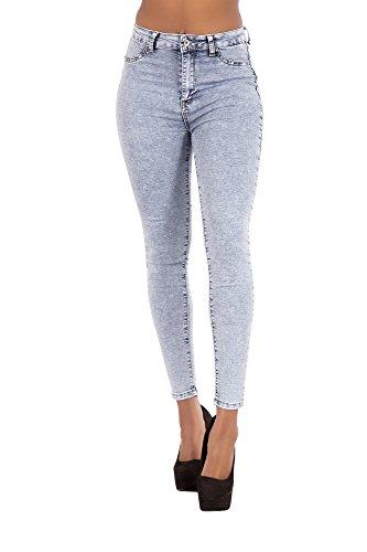 bleu Bleu Femme Skinny Jeans LustyChic qxXY7Ow