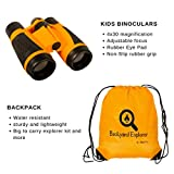 Kids Binoculars Explorer Kit for Children - Toy Set With Magnifying Glass, Flashlight, Backpack , Whistle, Compass in Washable backpack - Outdoor Exploration Kits, Camping & Spy Gear for Boys Girl