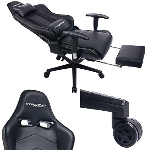 Gtracing Gaming Chair With Footrest Racing Office Chair