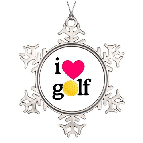Valerie Tree Decorating Ideas I Love Golf Photo Christmas Snowflake Ornaments Heart -