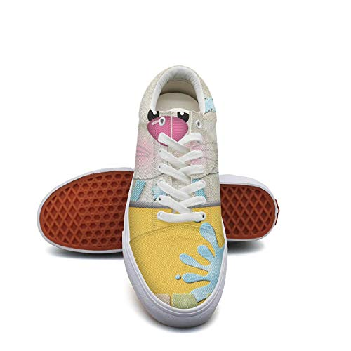 (Migny Hills Women's Shoes Easter Bunny in Cup Fashion Sneakers Low Top Casual Shoes )