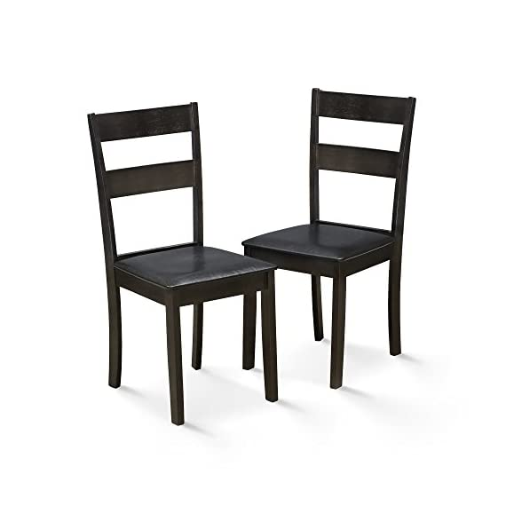 FURINNO Dining Chair Set, Espresso - Simple stylish design, functional and suitable for any room. Sturdy on flat surface. Easy assembly. Material: Foam and Micro Fabric - kitchen-dining-room-furniture, kitchen-dining-room, kitchen-dining-room-chairs - 41JECftJbfL. SS570  -