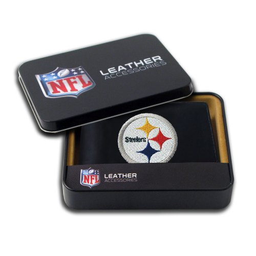 Pittsburgh Steelers Leather (NFL Pittsburgh Steelers Embroidered Genuine Leather Billfold Wallet)