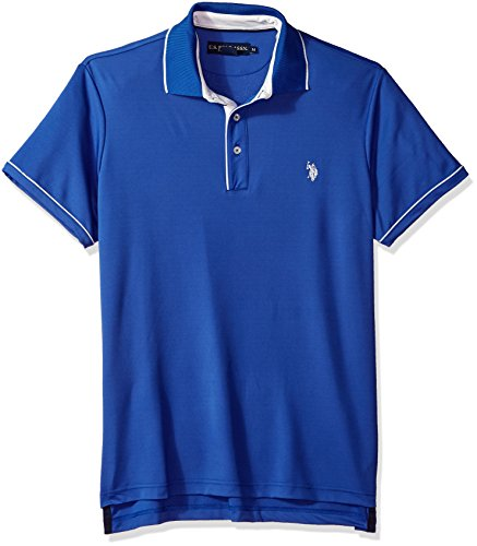 U.S. Polo Assn. Mens Short Sleeve Classic Fit Solid Poly Shirt