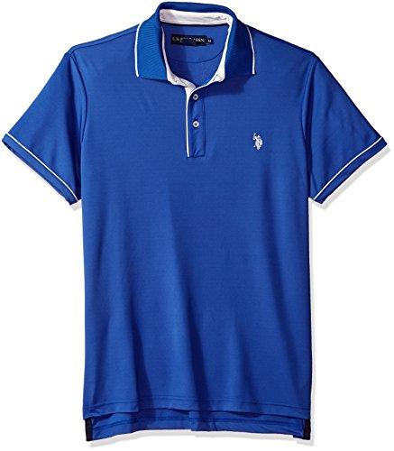 U.S. Polo Assn. Men's Short Sleeve Classic Fit Solid Poly Shirt, Wedding Blue KCCC, XL by U.S. Polo Assn.