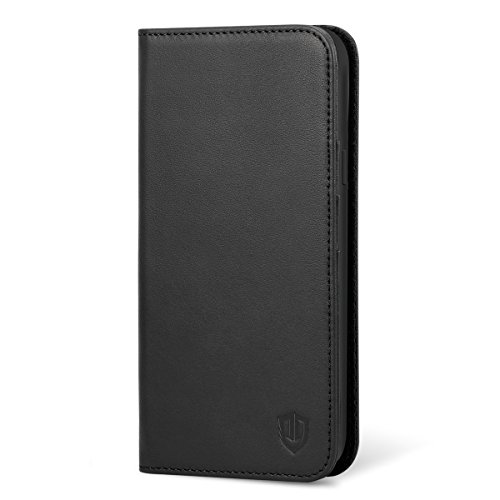 Galaxy S9 Plus Case, Galaxy S9 Plus Wallet Case, SHIELDON [Folio Cover][Stand Feature] Genuine Leather Credit Card Holder Flip Protective Case with Magnetic Closure for Galaxy S9 Plus - Black by SHIELDON