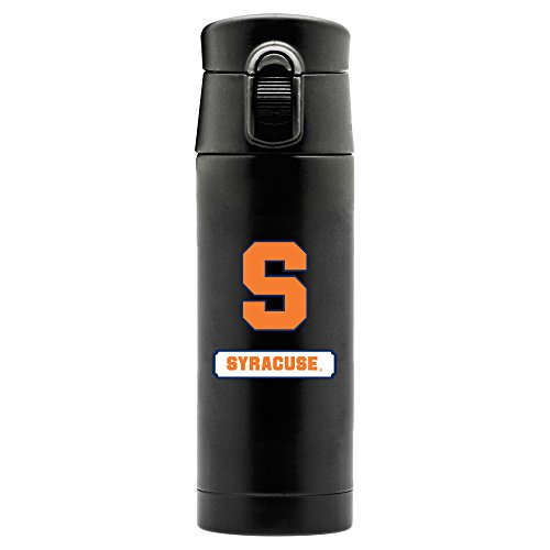 NCAA Syracuse Orange 16oz Double Wall Stainless Steel Thermos, Matte Black by Duck House