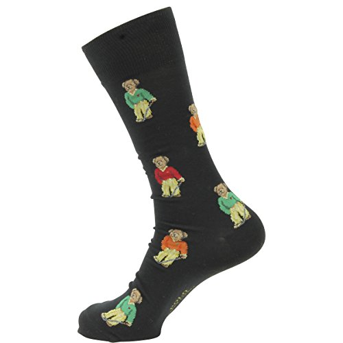 Price comparison product image Polo Ralph Lauren mens Teddy Bear Socks 88950PG-BLK_10-13 - Black