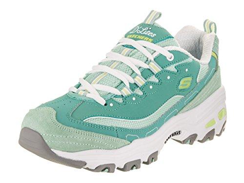 Skechers Women's D'Lites - New Journey, Sneaker, Aqua, 6.5 US M