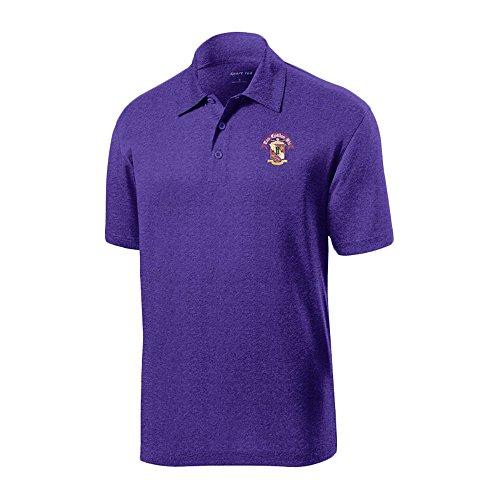 (Tau Epsilon Phi World Famous Greek Crest Contender Polo Large Varsity Purple Heather)