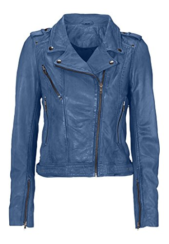 Ellos Women's Plus Size Faux Leather Moto Jacket Midnight Blue,16 -