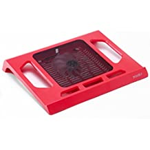 "Pwr+ 16"" PwrPad with 140mm Silent Fan for Apple, Acer, Asus, Dell, Hp, Lenovo, Samsung, Sony, Toshiba and others Laptop Notebook Cooling Pad Bed Lap LED Red"