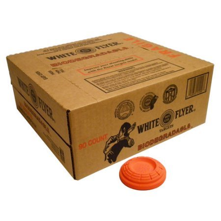 Flyer Case of White Biodegradable Targets (Clay Targets Shooting)
