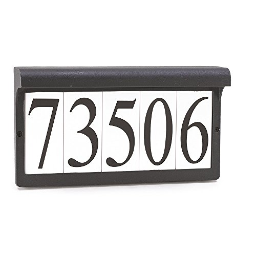 Sea Gull Lighting 9600-12 Address Light Fixture, Black Finish (Lighting Address Number)