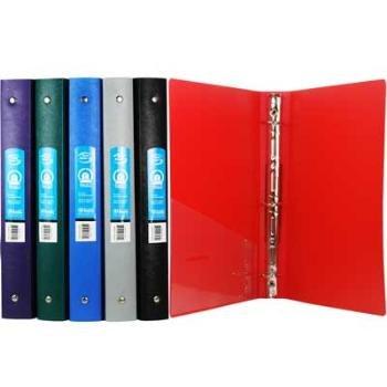amazon com 1 matte color bulk poly 3 ring binder with pocket 48