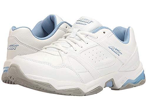 Avia Women's avi-Rival Cross-Trainer Shoe, White/Powder Blue, 9.5 M US