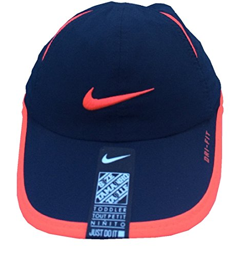 Nike Toddler Boys Dri-Fit Baseball Cap SZ 2/4T, Navy/Bright Crimson (Nikes For Toddlers)