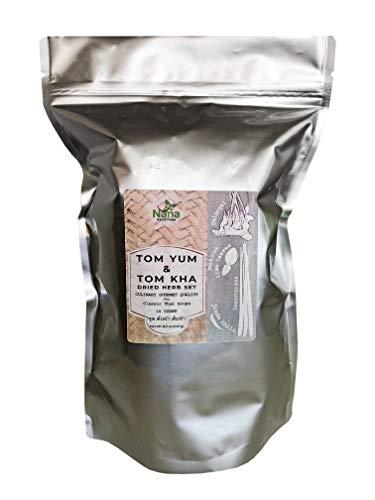 Tom Yum & Tom Kha Dried Herb Set   Culinary Gourmet Quality for Classic Thai Soups   10 Count 8.5 oz