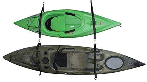 Cajun Tie Downs - Expandable & Adjustable Storage Hanging Kit - Kayak - Canoe - Surfboard - Stand Up Paddleboard -