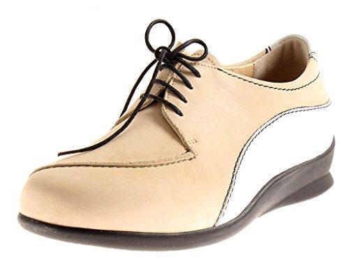 Elena Cuir À Berkemann Pour En Chaussures Sable 05110 Lacets Femmes Basses 4FqwpH