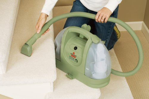Bissell Little Green Multi-Purpose Portable Carpet Cleaner, Sprays and Suctions to Dry in One Step, with Large 48 Oz. Tank, Cleans Carpets Upholstery, Rugs and Car Interiors, Eco-Friendly Design