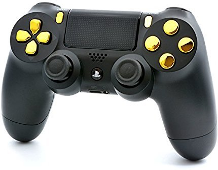 Black/Gold PS4 PRO Smart Rapid Fire Modded Controller Mods for FPS All Major Shooter Games Warzone & More (CUH-ZCT2U) 3