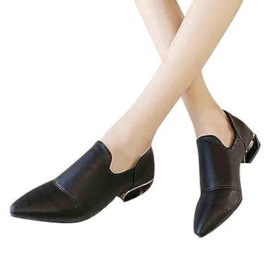 5293bec6d83d6 Amazon.com: Sharemen Women's Shoes Back Side Zipper Large Size ...