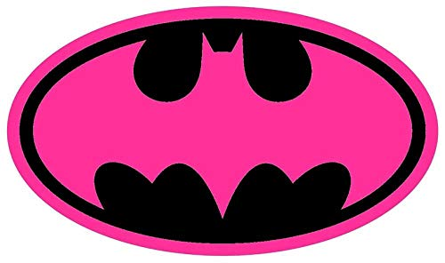 Pink Batgirl Logo Iron On Transfer for T-Shirts & Other Light Color Fabrics #1]()