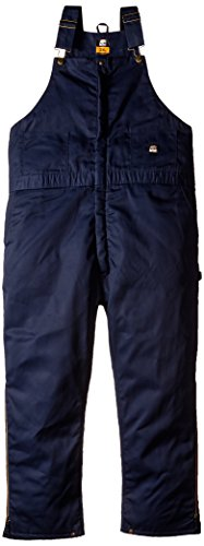 Berne Men's Big-Tall Deluxe Twill Insulated Bib Overall, Navy, 3XL