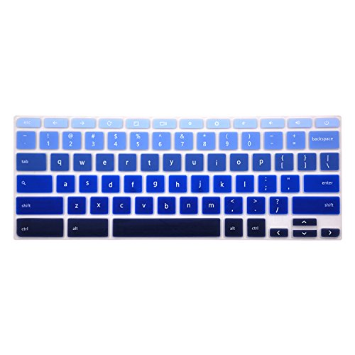 "Chromebook keyboard Cover for 15.6"" Acer Chromebook 15 CB5-571 Series, CB3-531 Series, C910 Series US Layout (NOT FIT FOR CB3-111 SERIES) (Ombre Blue)"