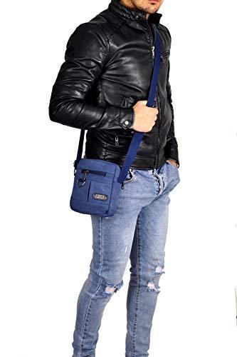 Bleu Pour À Sac Profondità Altezza 20cm 11cm 16cm Noir Gyoiamea Homme Larghezza U38 L'épaule Porter Grande qHFHfCw