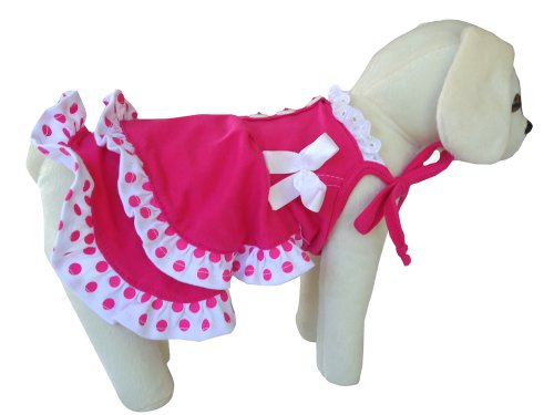 UP Collection Fashionable Summer Dress for Dogs, Fuchsia, Small, My Pet Supplies