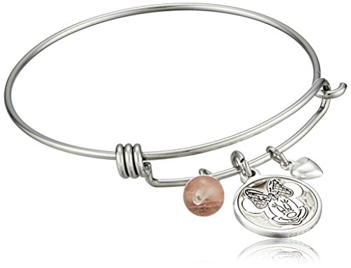 #Research Disney Stainless Steel Catch Bangle with Silver Plated Minnie Mouse
