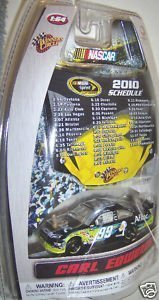 (Carl Edwards #99 AFLAC Aflac Ford Fusion COT 1/64 Scale & Bonus Magnet 1/24 Scale 2010 Sprint Cup Hood Winners Circle)