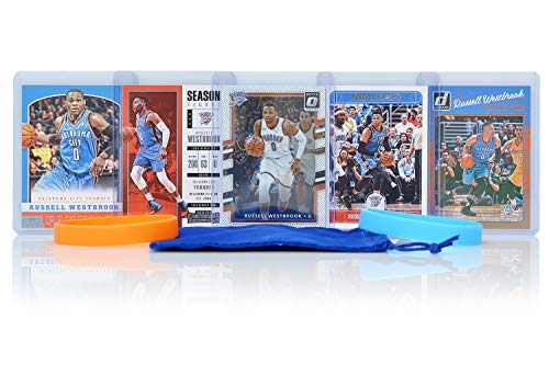 Russell Westbrook (5) Assorted Basketball Cards Bundle - Oklahoma City Thunder Trading Cards - # 0 (Most Popular Baseball Players Of All Time)