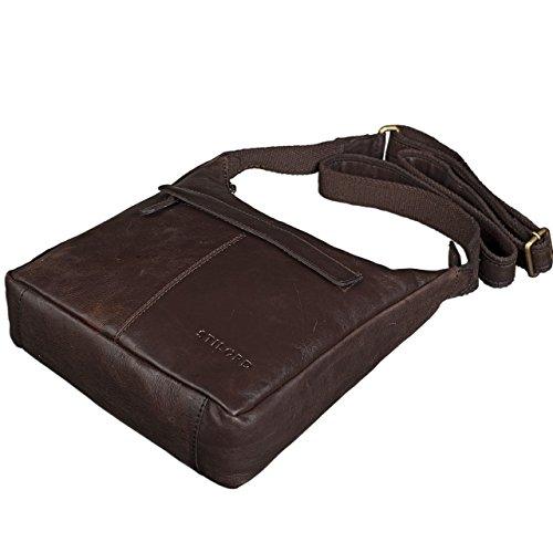 marrone Marrone Stilord Pelle Antico Cioccolata Tracolla Piccolo A Colore Borsa rY8nTqaYv