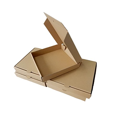 Ecomojiware 9Inches Pizza Boxes Kraft Pizza Paperboard Take Out Containers Packing Boxes 10 Pieces (10, 9 Inches)