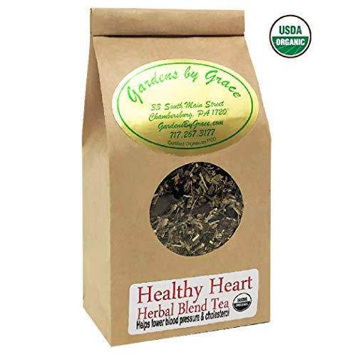 Healthy Heart, High Blood Pressure, Circulation Control, Essential Nutrition, Natural Herbs, Vitamins, Organic Tea, Loose Leaf | 4 oz
