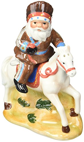 (Cosmos Gifts 10630 Native American Santa on Horse Salt and Pepper Set, 5-1/8-Inch)