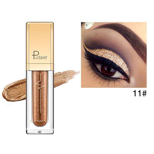 Price comparison product image Eletty 4.5Ml Flashing Eyeliner Metallic Smoky Glitter Liquid Eyeliner Eyeshadow Smudge-Proof For Smoldering Look & Perfect Cat Eye (E)