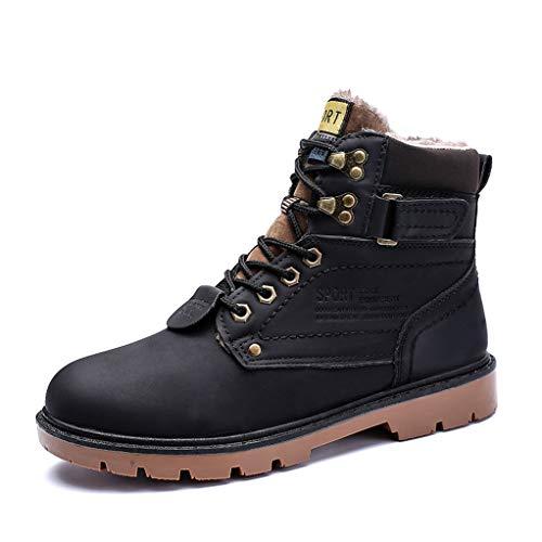 Giles Jones Men's Motorcycle Boots Autumn Winter Non-Slip Waterproof Snow Combat Boots ()