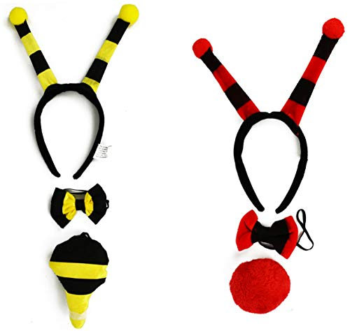 Set of 2 Adorable Halloween Costume Sets! Featuring Bumblebee and Ladybug! (2 Pack of Costumes, Ladybug & Bumblebee) ()