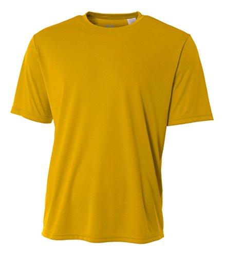 A4 Men's Cooling Performance Crew Short Sleeve T-Shirt, Gold, Medium ()