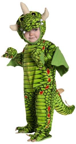 Underwraps Kid's Underwraps Toddler Adorable Dragon Costume, Large Childrens Costume, green, Large